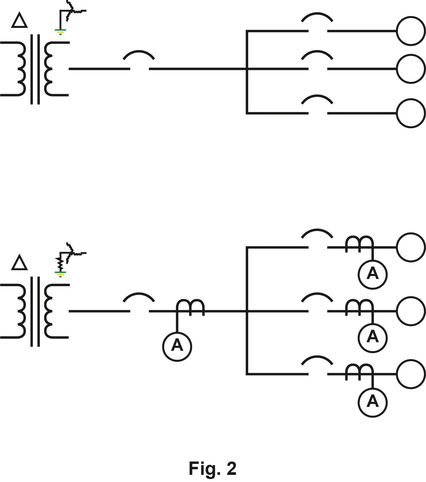 Grounding system with/ without CTs